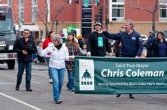 Coleman развевает в большом параде дня стоковые изображения rf