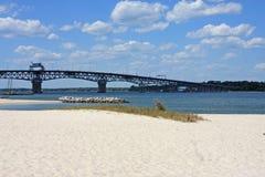 Coleman Bridge, Yorktown fotografía de archivo libre de regalías