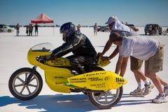 Coleman Brother Racing lagmoped under världen av hastighet Fotografering för Bildbyråer