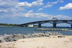 Coleman Memorial Bridge fotografía de archivo