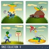 Coleção 5 do espaço Imagens de Stock Royalty Free