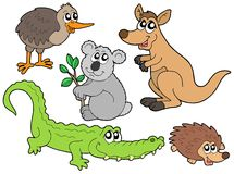 Coleção australiana dos animais Imagens de Stock Royalty Free