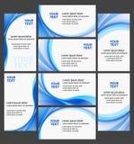 Coleção da alta qualidade dos cartões da companhia Fotos de Stock