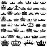 Coleção da coroa Imagens de Stock