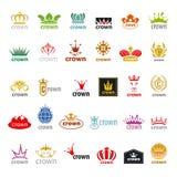 Coleção da coroa dos logotipos do vetor Foto de Stock Royalty Free