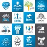 Coleção da escola dos logotipos do vetor Fotografia de Stock