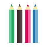 Coleção da ilustração cosmética do vetor do lápis do bordo Imagem de Stock