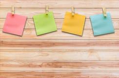 Coleção da nota colorida do papel do post-it Fotografia de Stock