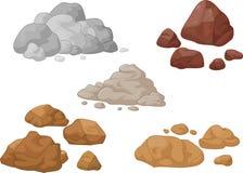 Coleção da pedra e da rocha Foto de Stock