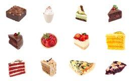 Coleção da sobremesa deliciosa Fotos de Stock Royalty Free