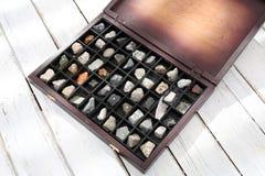 Coleção das pedras Imagens de Stock