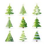 Coleção das árvores de Natal Foto de Stock Royalty Free