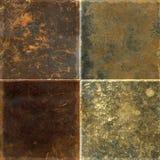 Coleção das texturas de couro Fotografia de Stock Royalty Free