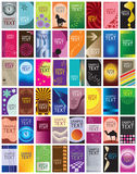 Coleção de 48 moldes verticais do cartão Foto de Stock Royalty Free