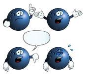 Grupo de grito da bola de bowling Fotos de Stock