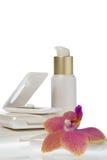 A coleção de compo produtos no fundo branco Imagens de Stock