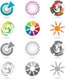 Coleção de ícones modernos Fotos de Stock Royalty Free