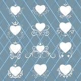 Coleção de corações decorados Imagens de Stock Royalty Free