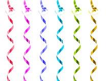 Coleção de fitas coloridas arco-íris do presente Fotografia de Stock Royalty Free