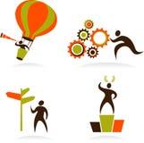 Coleção de logotipos abstratos dos povos - 1 Foto de Stock Royalty Free