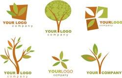 Coleção de logotipos e de ícones da natureza Imagens de Stock Royalty Free