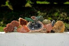 Coleção de minerais Fotos de Stock