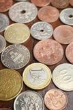 Coleção de moeda com moedas velhas Fotografia de Stock