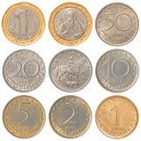 Coleção de moedas búlgara do lev Imagem de Stock