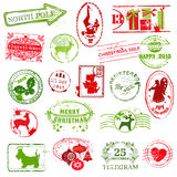 Coleção de selo do Natal Foto de Stock Royalty Free