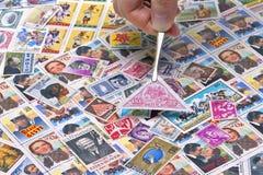 Coleção de selos Fotos de Stock