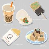Coleção deliciosa dos petiscos de Taiwan Foto de Stock Royalty Free