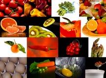 Coleção do alimento Fotos de Stock Royalty Free