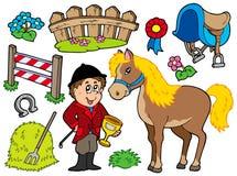 Coleção do cavalo Fotografia de Stock Royalty Free