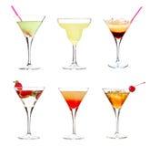 Coleção do cocktail Fotos de Stock Royalty Free
