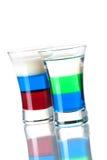 Coleção do cocktail do tiro: Anabólico e russo Fla Imagens de Stock