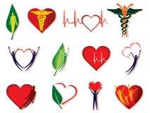 Coleção do ícone dos cuidados médicos Foto de Stock