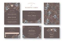 Coleção do convite do casamento Fotografia de Stock Royalty Free