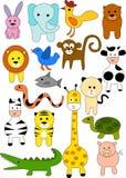 Coleção do doodle animal Fotos de Stock Royalty Free