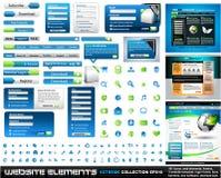 Coleção do extremo dos elementos do projeto de Web Imagem de Stock