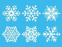Coleção do floco de neve Fotografia de Stock Royalty Free