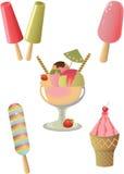 Coleção do gelado. Fotografia de Stock Royalty Free