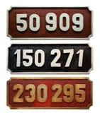 Coleção do número do trem Imagens de Stock Royalty Free