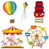 Coleção do parque de diversões Imagem de Stock Royalty Free