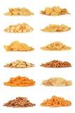 Coleção do petisco da comida lixo Imagem de Stock