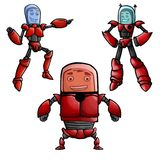 Coleção do robô Imagem de Stock