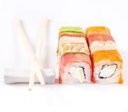 Coleção do rolo do sushi Fotos de Stock Royalty Free
