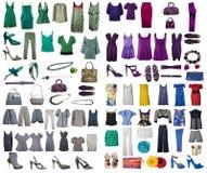 Coleção do vestido e das sapatas Fotografia de Stock Royalty Free