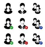 Coleção do vetor de ícones da Web Ajuste com simbólico Fotos de Stock