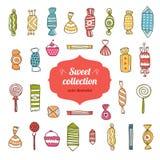 Coleção doce Foto de Stock