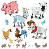 A coleção dos animais de exploração agrícola ajustou 01 Foto de Stock